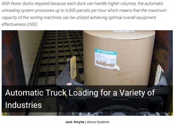 Automatic Truck Loading for a Variety of Industries
