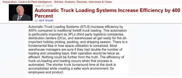 Automatic Truck Loading Systems Increase Efficiency by 400%